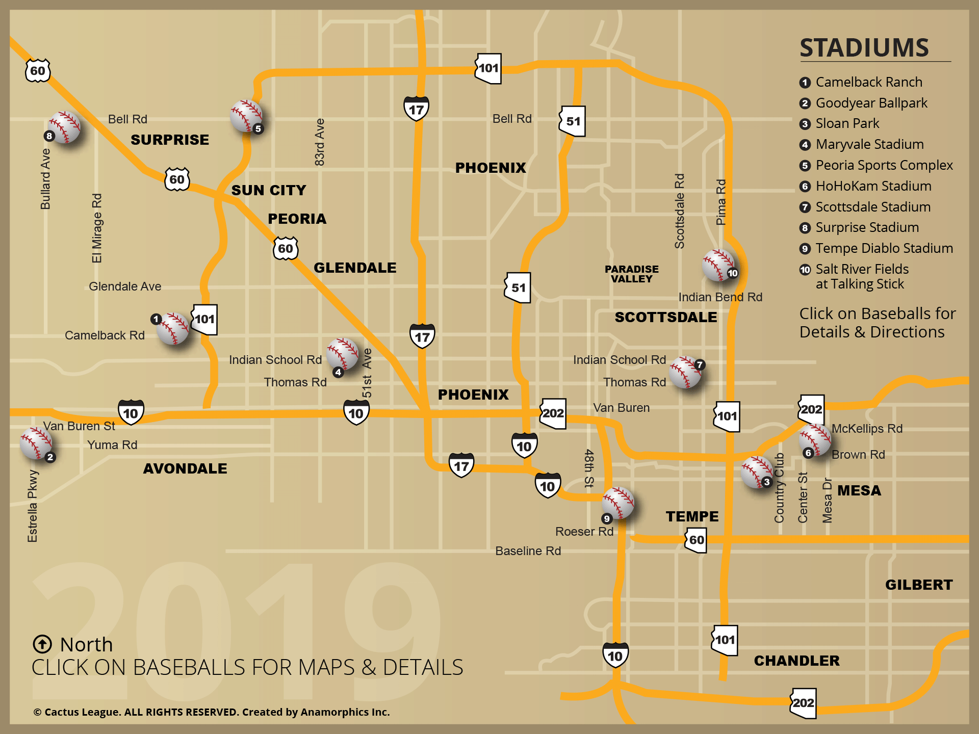 League Stadium Map